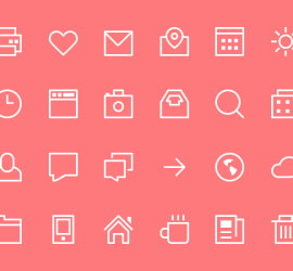 Thin Stroke Icons